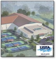 US Tennis Association Mid-Atlantic facility concept rendering