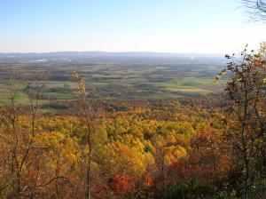 A view of the changing autumn leaves at Waggoner's Gap.