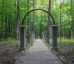 Rose Island Arches Leading Into The Woods
