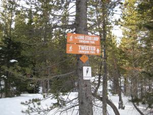 Showshoe sign eldora