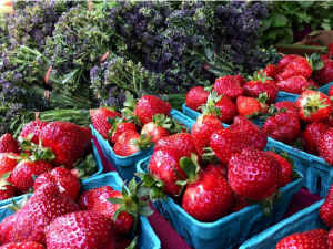 Strawberries at Vancouver Farmers Market