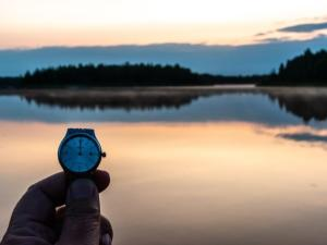 Midnight in Fairbanks - watch face