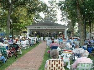 A concert in Benson Singing Grove at Mule Days, an event held annually in Benson, NC.