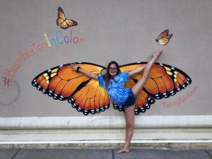 Penny Paint Butterfly Mural