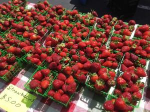 Fresh strawberries are available at the 9-1 Produce Farm