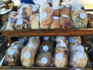 The Pastry Corner features freshly baked breads.