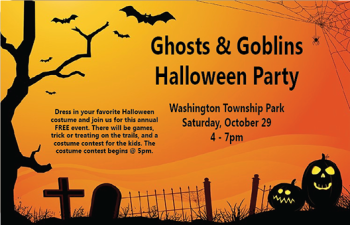 Ghosts and Goblins Halloween Party at Washington Township Park