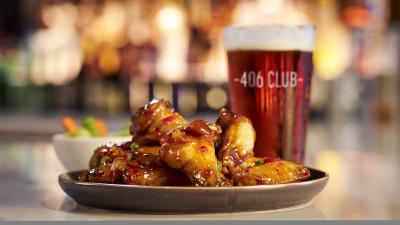 Chicken wings and beer Harrah's Gulf Coast 406 Club