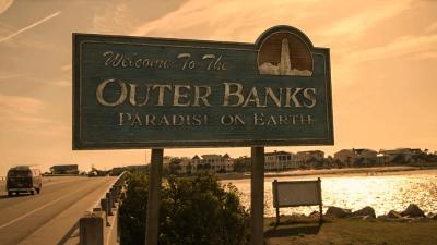 Outer Banks Netflix Show Welcome Sign
