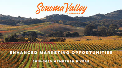 Vineyard with Sonoma Marketing Opportunities written over it