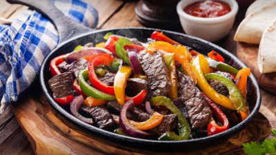 Steak fajitas at El Vaquero Mexican Diner