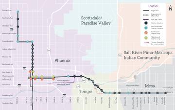 Valley Metro Rail Map thumbnail