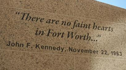 John F  Kennedy Tribute Memorial in Fort Worth, TX