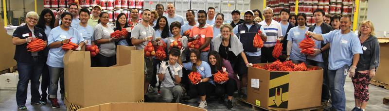 Volunteers with Alameda Food Bank