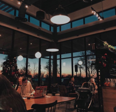 Inside view of the POV Coffee Hous in the Lake Walk Town Center