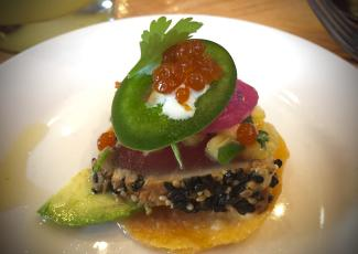 Tuna Tostada at Savorez