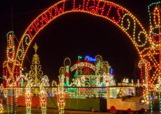 Christmas light displays at Meadow Lights near Benson, NC.
