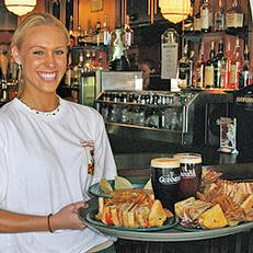Stop by for a drink and dinner with the locals at The Celtic Fox