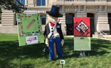 Scarecrow display Monopoly