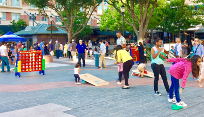 Lyrics and Lawn Games event in Sugar Land Town Square