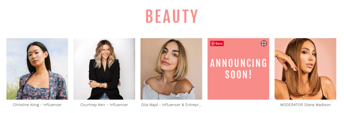 Style Week OC 2019 Beauty Panel