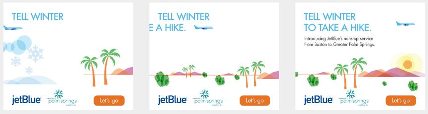 Digital Ad for JetBlue Boston