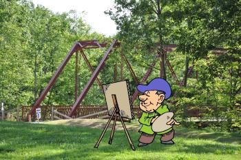 Paint outdoors at McCloud Nature Park on May 20 during Plein Air Painting!