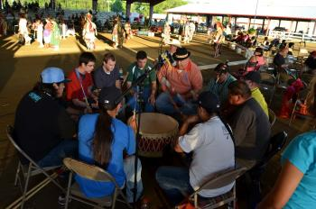 Traditional music at National Pow Wow