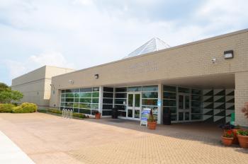 Exterior of Chinn Aquatics & Fitness Center building