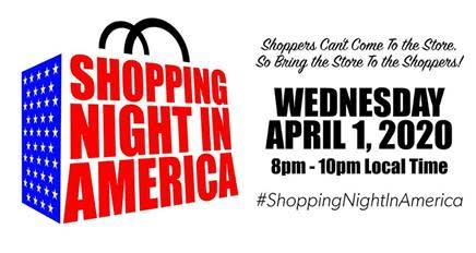 Logo for Shopping Night in America