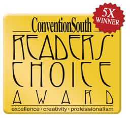 ConventionSouth Readers Choice Award 5x winner banner
