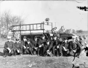 1 Firemen with pig c 1920