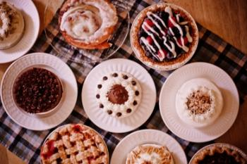 Pies, tarts and cakes at the Bread Basket Cafe and Bakery in Danville