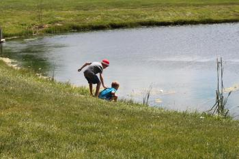 Catch-and-release fishing is allowed at the Northwest Community Park pond.