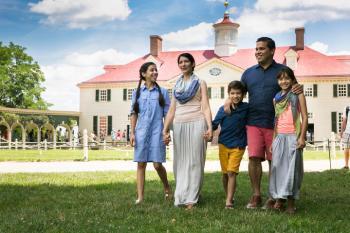 Family at Mount Vernon
