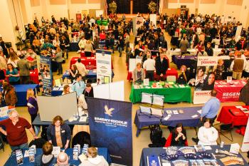 A college fair inside the Hendricks County 4-H Fairgrounds & Conference Complex