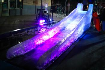Ice Slide at HBG's Ice & Fire Festival