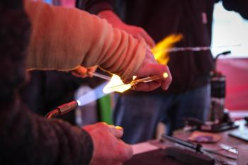 Glass Blowing at Ice & Fire Festival