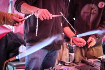 Glass Blowing at HBG's Ice & Fire Festival