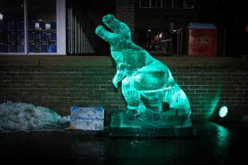 Ice Sculpture at HBG's Ice & Fire Festival