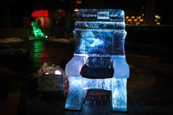 Ice Throne at HBG's Ice & Fire Festival