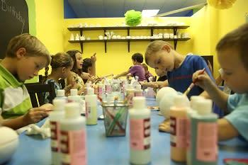 uPaint Pottery Studio birthday party