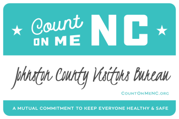 Count on Me NC Badge for JCVB, Smithfield, NC.