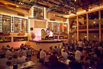 Organ Stop Pizza organ pipe dining room