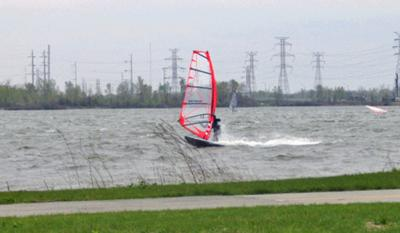 Windsurfing at Wolf Lake