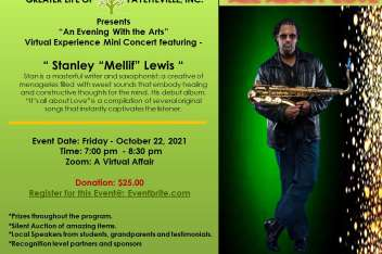"""An Evening With the Arts: Virtual Experience Mini Concert featuring:  Stanley  """"Melif""""  Lewis"""