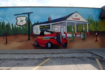 A suggestion from a reader led me to find this mural at Vicary Auction Company in Danville