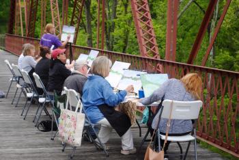 Plein Air Painting at McCloud Nature Park.