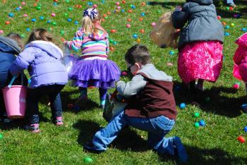 Hunt for Easter eggs and race rubber ducks at Ellis Park in Danville