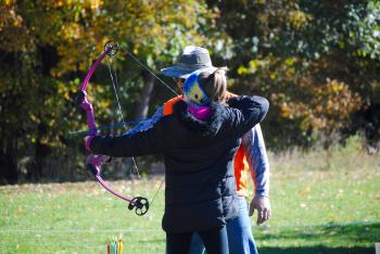 Archery at the Fall Colors Festival at McCloud Nature Park